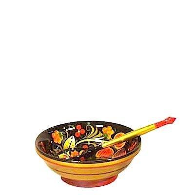Набор для десерта с хохломской росписью. 2 предмета
