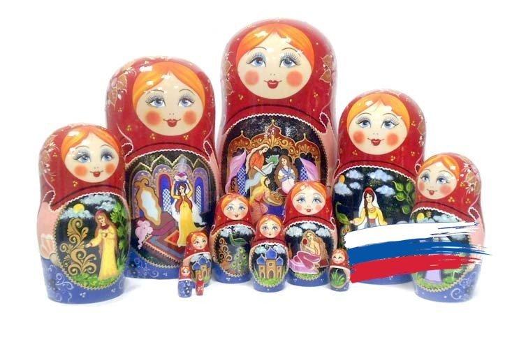 Матрёшка Семеновская авторская «Аленький цветочек» (12 кукол). Авторская роспись