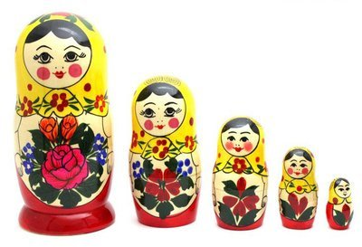 Матрёшка Семеновская «Аленка» (5 кукол) (опт)