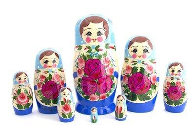Матрёшка Семеновская 8 кукол. Роспись нетрадиционная (опт)