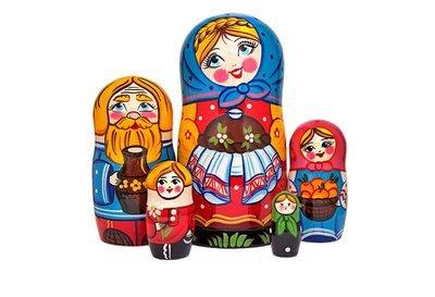 Матрёшка Семеновская «Добрые традиции» авторская 5 кукол (опт)