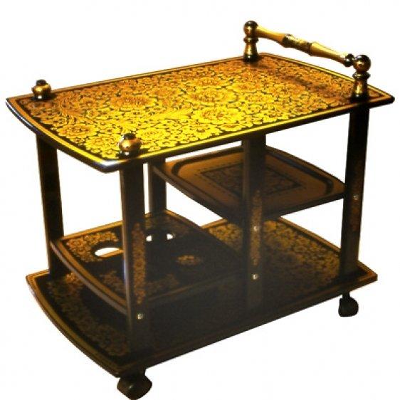 Стол сервировочный с хохломской росписью «Ретро»