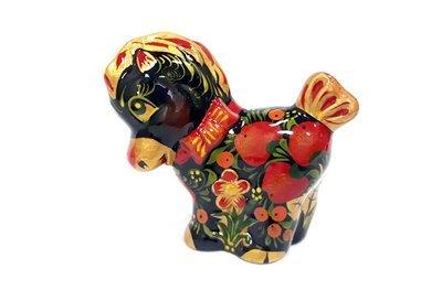Ермиловская игрушка, сувенир «Лошадка» керамическая с хохломской росписью.