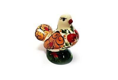 Ермиловская игрушка, сувенир «Голубка» с хохломской росписью. Маленький размер
