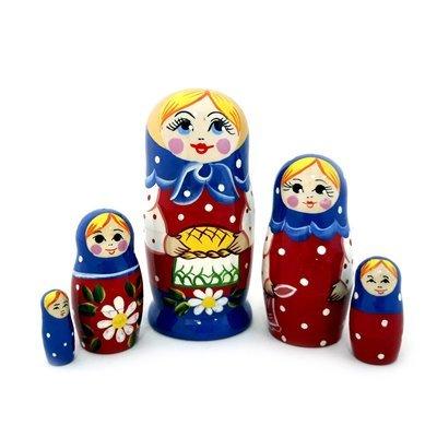 Матрёшка Семеновская «Каравай» (5 кукол) (опт)