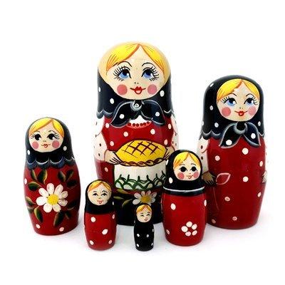 Матрёшка Семеновская «Каравай» 6 кукол (опт)