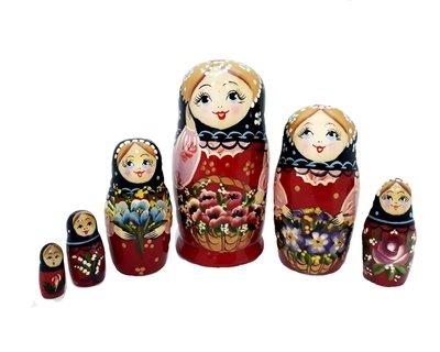 Матрёшка Семёновская авторская 6 кукол (опт)