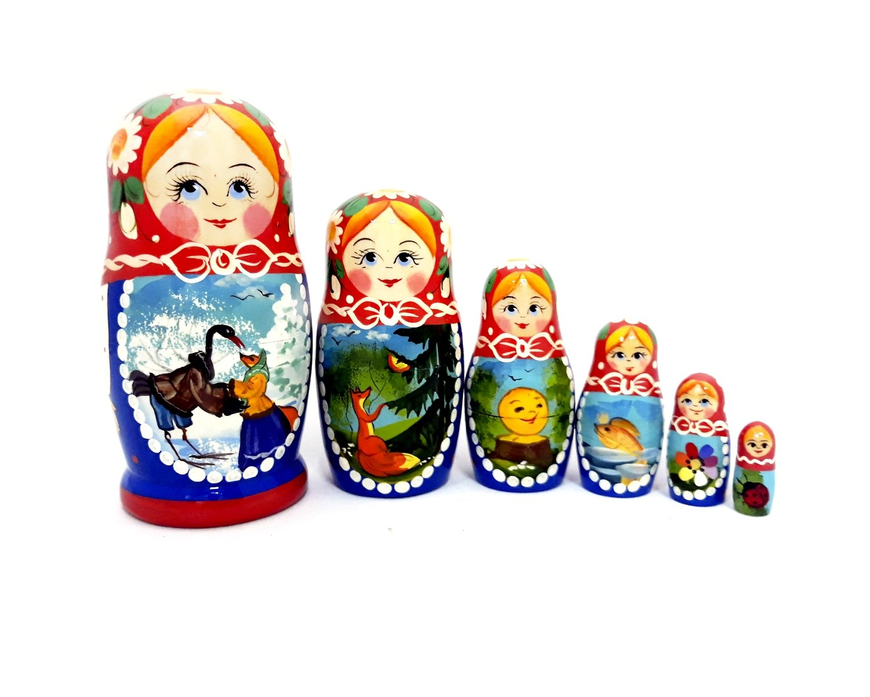 "Матрёшка Семёновская авторская ""Сказка"" 6 кукол"