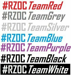 "RZOC Club Hash Tag Stickers ""Join the FUN"""
