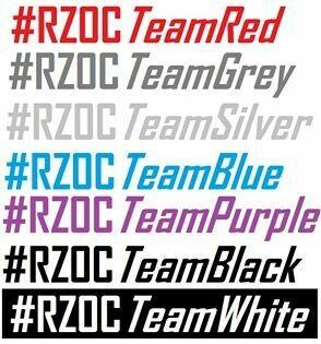RZOC Club Hash Tag Stickers