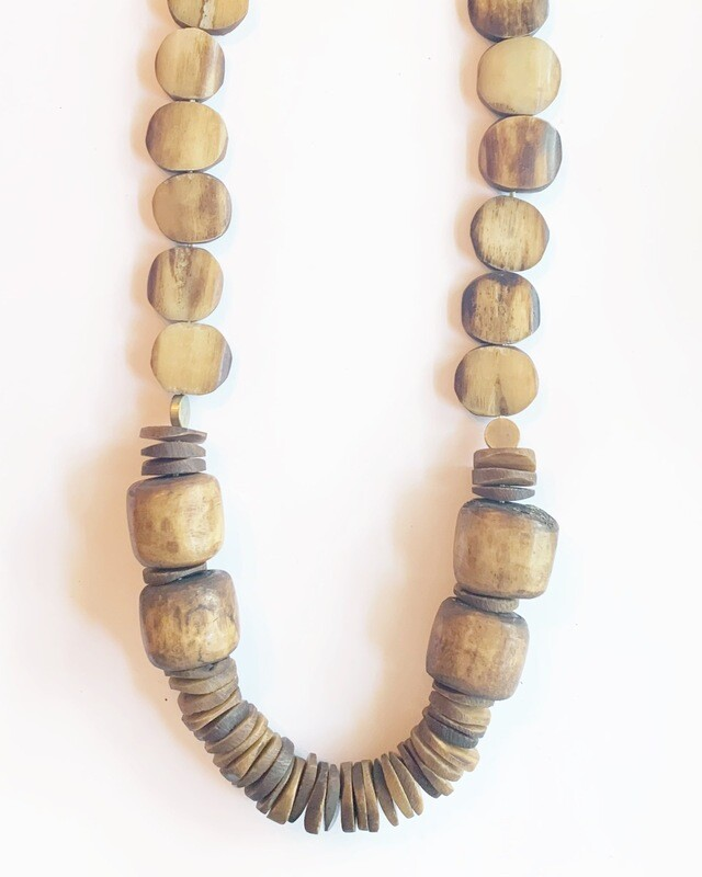 Brown Bone Necklace
