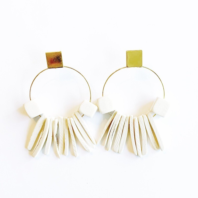 Cream Earrings