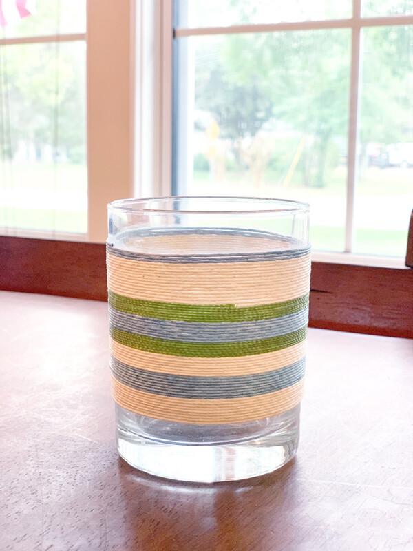 Green & Light Blue Small Vase