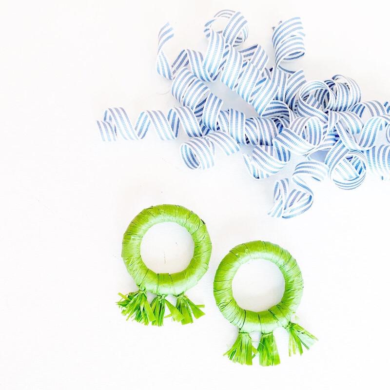 Soirée Earrings: Green