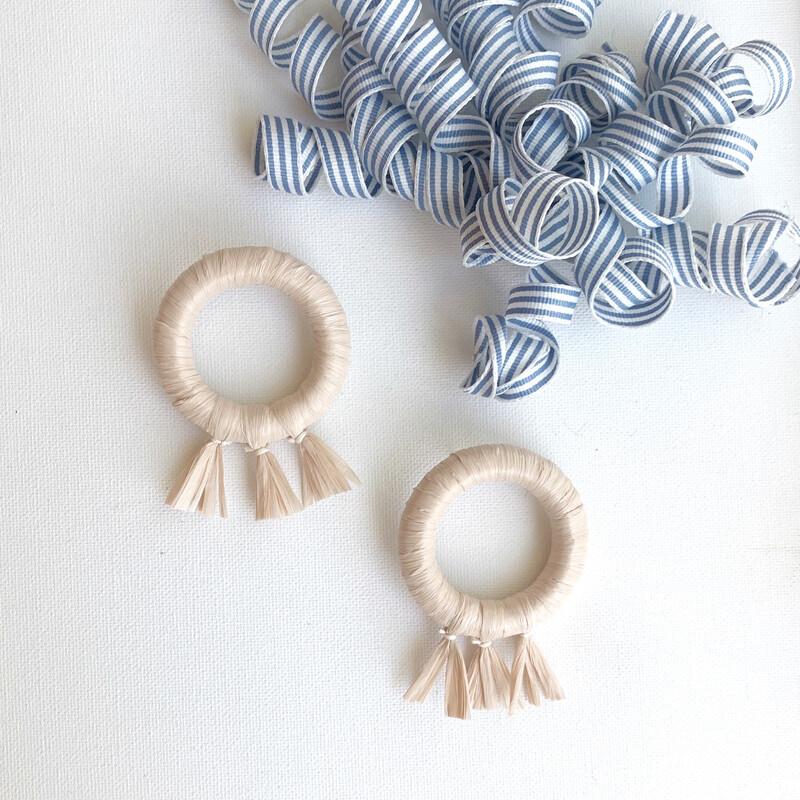 Soirée Earrings: Linen
