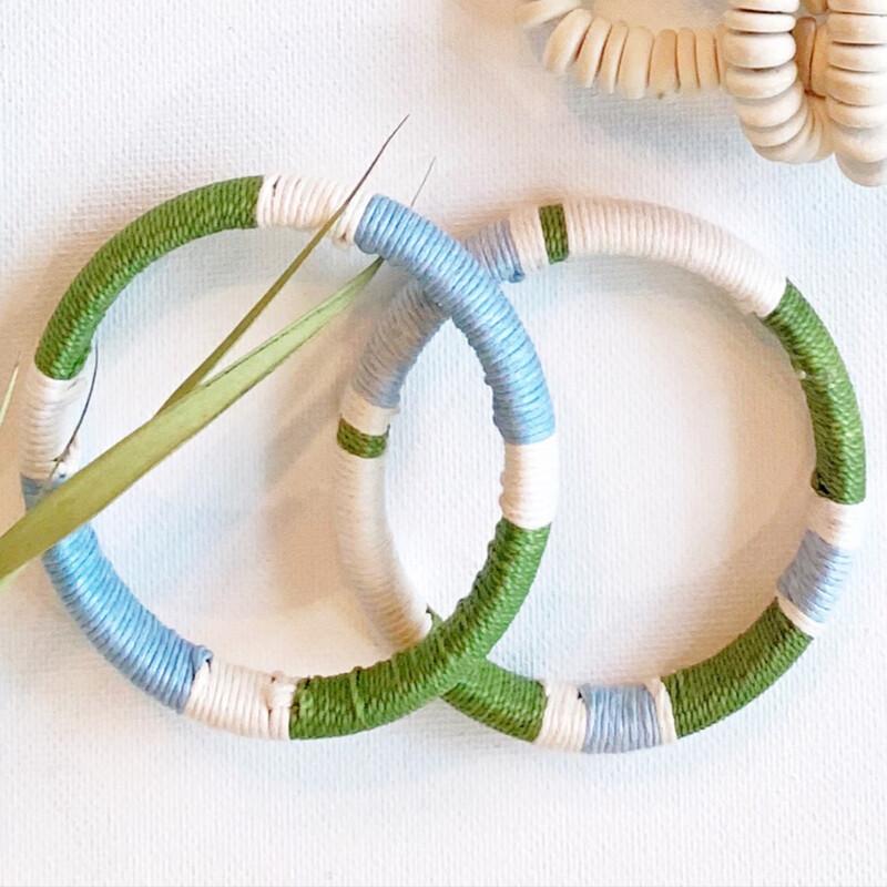 Brightside Bangles: Green, Blue & Cream