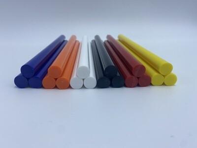 Stückverkauf Bunte Klebesticks,Glue Sticks,Heisskleber 11mm x 200 mm in 7 verschiedenen Farben Kostenloser Inlandsversand!!!