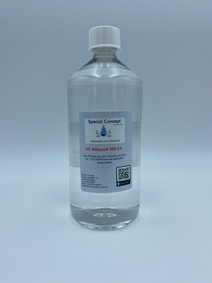 1,0 Liter Silikonöl 350 cSt / Gummipflege; Gleitmittel - Latex ; Pouring  (14,50 € / Liter )  Kostenloser Inlandsversand!!!
