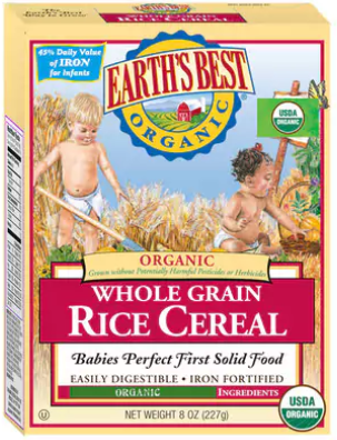 Earth's Best 有機全谷物米糊 (Rice Cereal) - (4個月+)