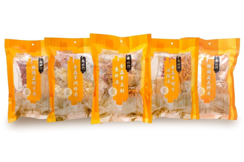 【南北行】皇牌猴頭菇金蟲草湯包套裝F46 (5包裝)