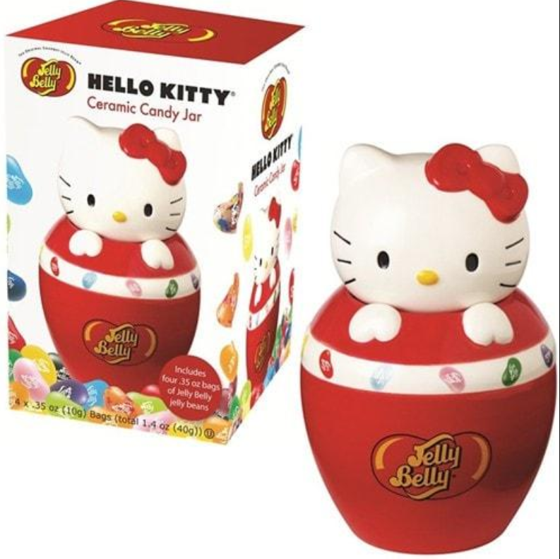 Jelly Belly Hello Kitty 糖果陶瓷桶