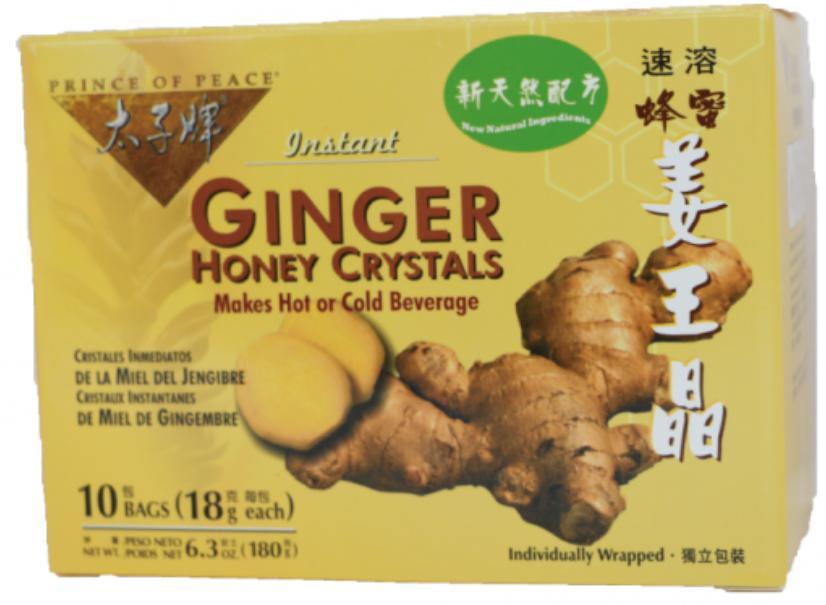 太子牌蜂蜜姜王晶10包盒裝