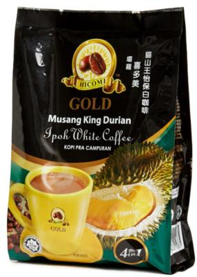 喜多美3合1貓山王榴槤白咖啡