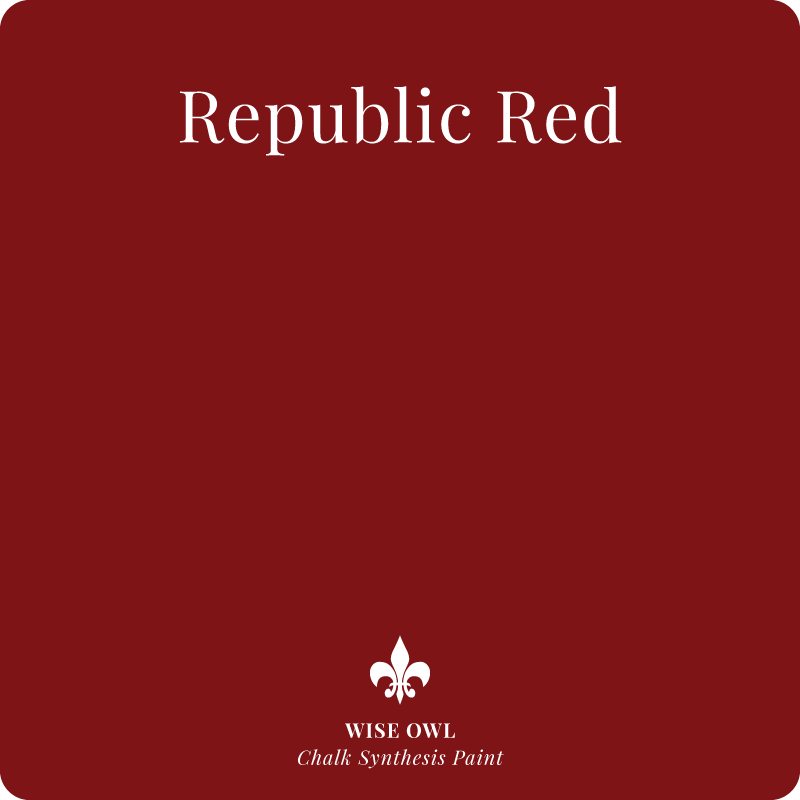 Republic Red Wise Owl Chalk Synthesis Paint – Pint (16 oz)