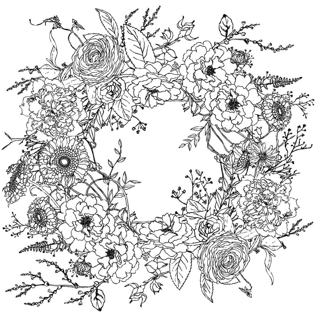 "IOD Winter's Song Wreath 24"" x 24"" Paintable Décor Transfer"
