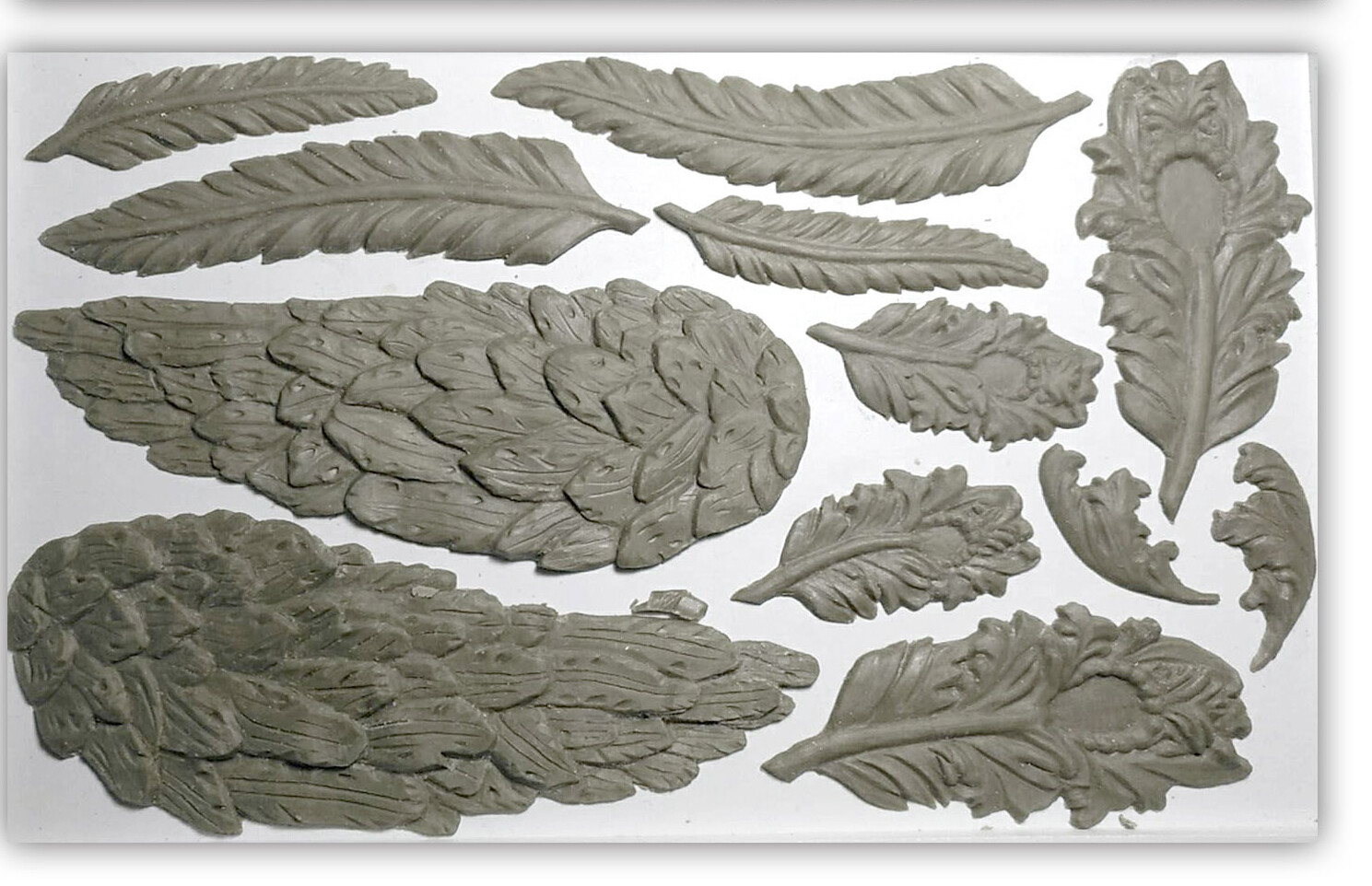 IOD Wings and Feathers 6×10 Decor Moulds