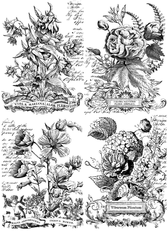 Classic Bouquets Paintable  24×33 Decor Transfer