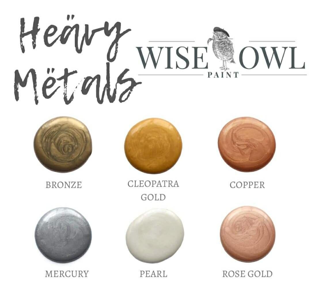 Wise Owl Heavy Metals Metallic Gilding Paint - 8oz