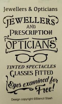 Jewelers & Opticians Stencil