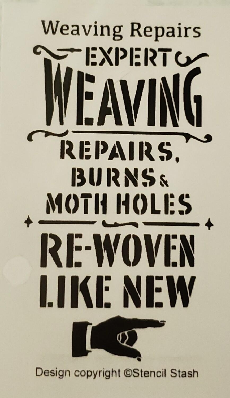 Weaving Repairs Stencil