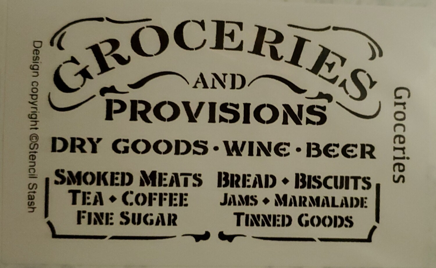 Groceries and Provisions Stencil