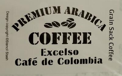 Grain Coffee Sack Stencil