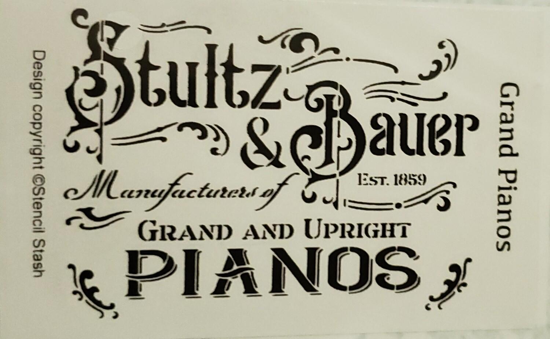 Grand Piano Stencil