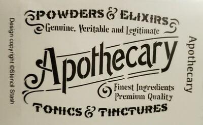 Apothecary Stencil