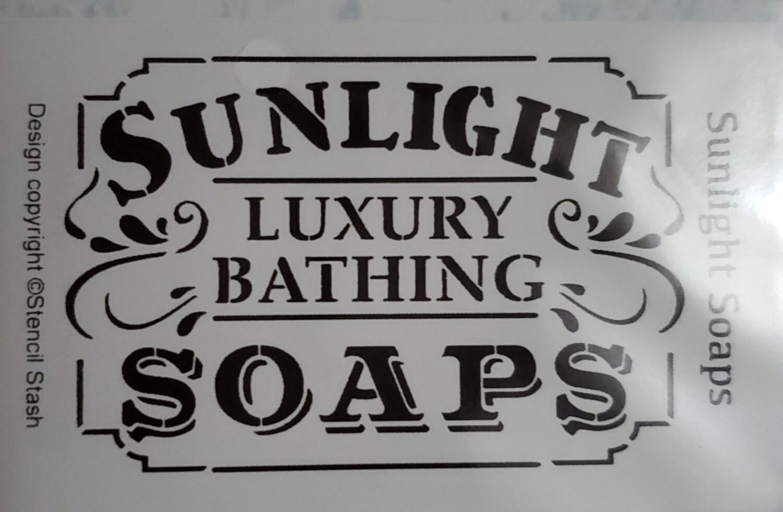 Sunlight Soaps Stencil