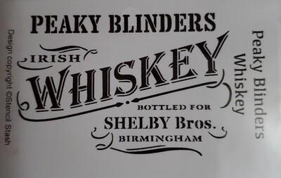 Peaky Blinders Whiskey Stencil