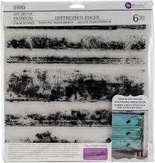 "IOD Distressed Edges 12"" x 12"" Décor Stamp"