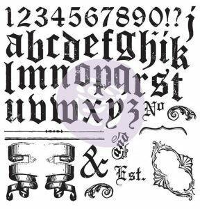 IOD Alpha II Décor Stamp