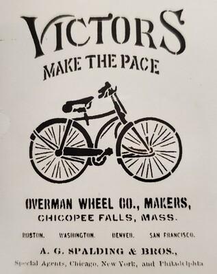 Victors Bicycle Stencil