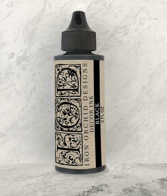 IOD Black Decor Ink - 2oz