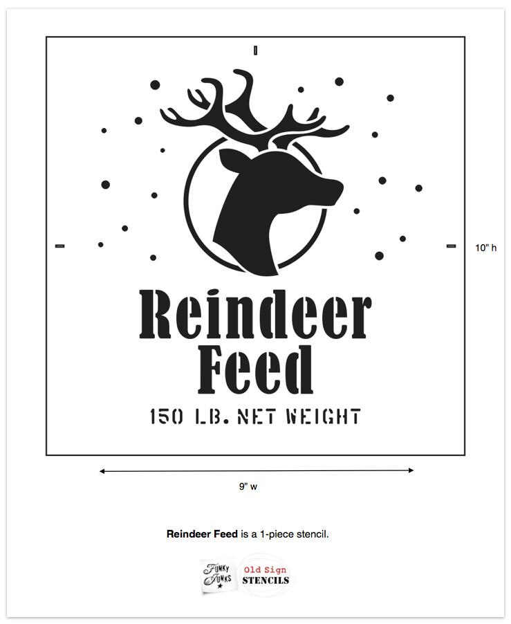 Reindeer Feed Funky Junk Old Sign Stencils