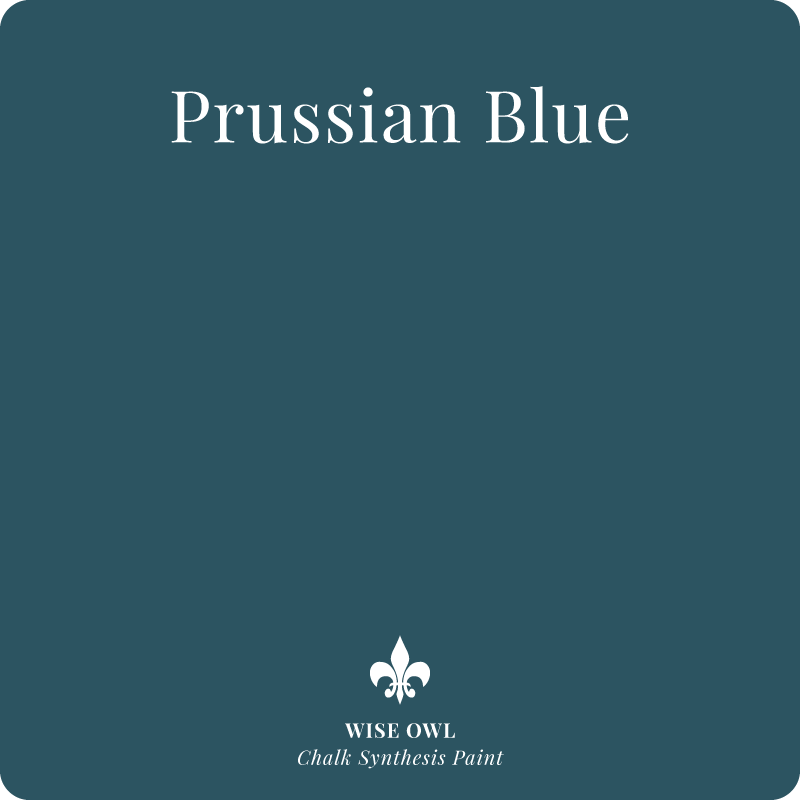 Prussian Blue Wis Owl Chalk Synthesis Paint– pint (16oz)