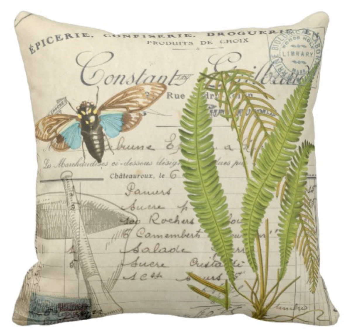 Apothecary Throw Pillow