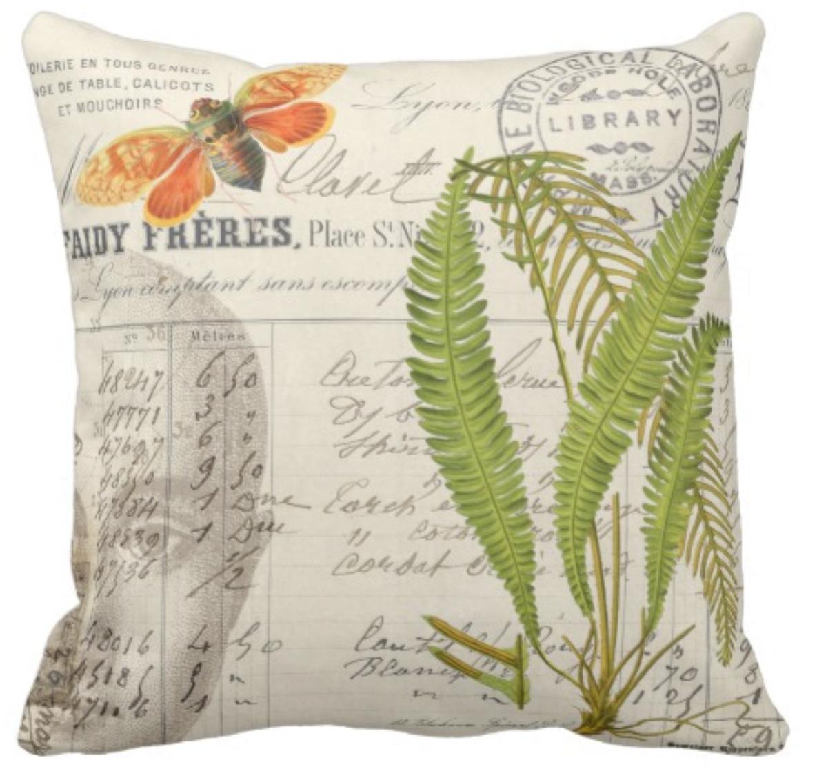 Apothecary Style Throw Pillow