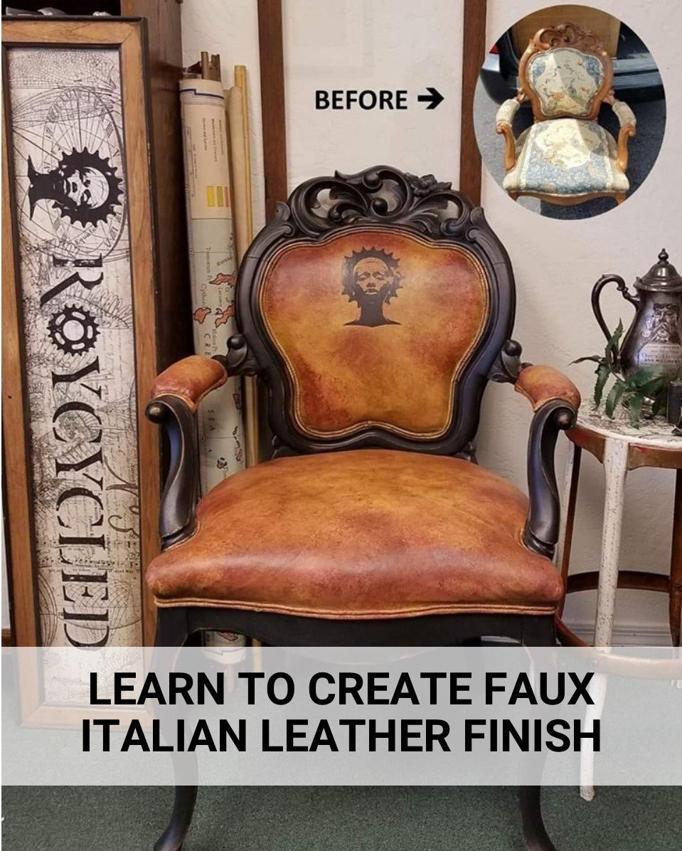Video Tutorial - Paint Fabric To Look Like leather