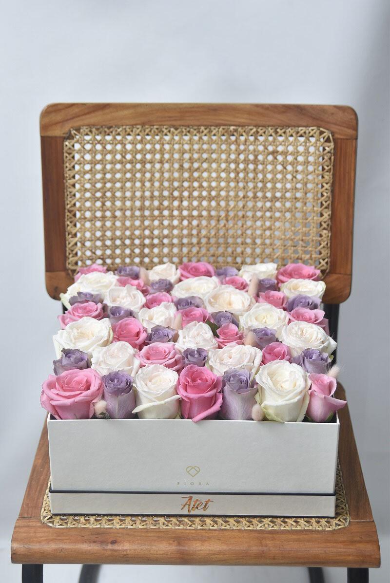 Square Box (49 Roses)